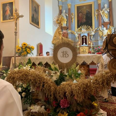 Dożynki 2020r.w kościele parafialnym w Jasionówce.